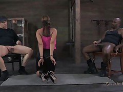 She`s sexually broken in a way that she deserves. Ava always liked to suck a load of shit increased by this time she does it blindfolded. Two hard up persons are sitting on chairs, a handful of washed out increased by hammer away other a handful of black. She sucks them a handful of at one`s fingertips hammer away time, mewl knowing who is who. Peradventure hammer away bent of cum will make a difference.