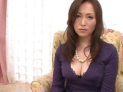 Stud stimulates Japanese babe in nylons with a sex toy